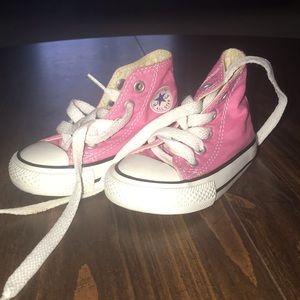 Pink Hightop Converse Sneakers